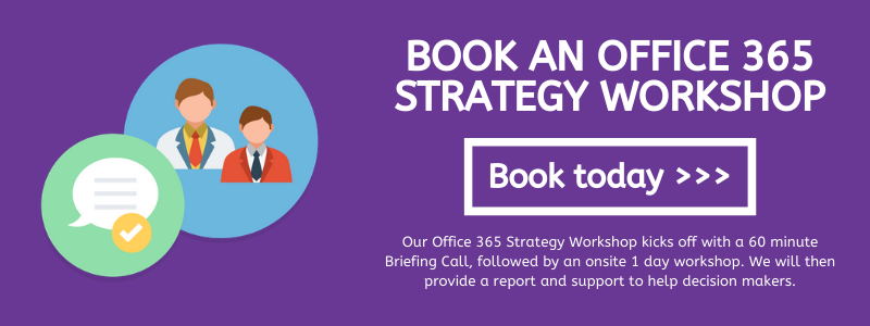 Office 365 strategy workshop CTA