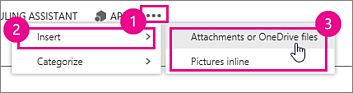 skype insert attachments or onedrive