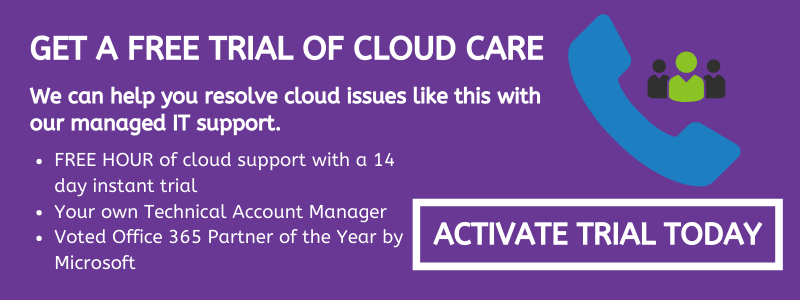Cloud Care IT Managed Support Free Trial